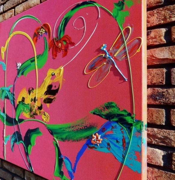 roze, vrolijk, dieren, abstract