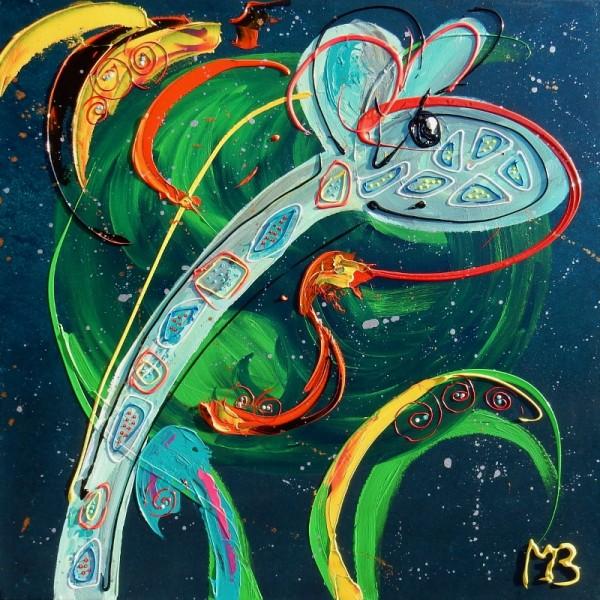 grijs, groen, abstract, dierenschilderij, grijs, groen, abstract, dieren, abstracte kunst, kunst in opdracht, schilderij in opdracht