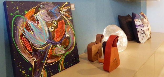 expressief, dynamisch schilderij, kleurrijk abstracte kunst, 3d schilderij, expositie