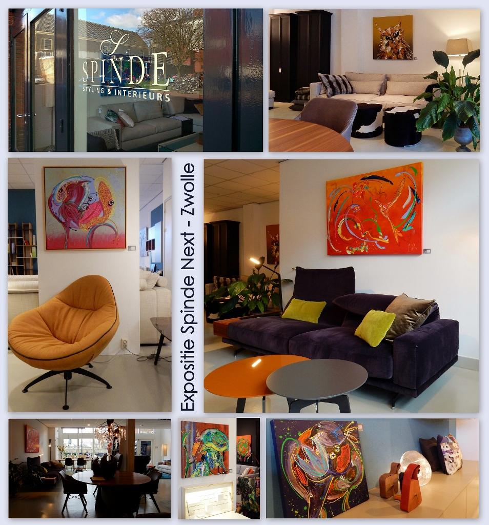 interieurwinkel, styling woning en kantoor, kantoorinrichting, huisinrichting, interieuradvies, meubelen, kleurrijke kunst, abstracte schilderijen, moderne kunst, 3D schilderijen, Marieke Brouwers