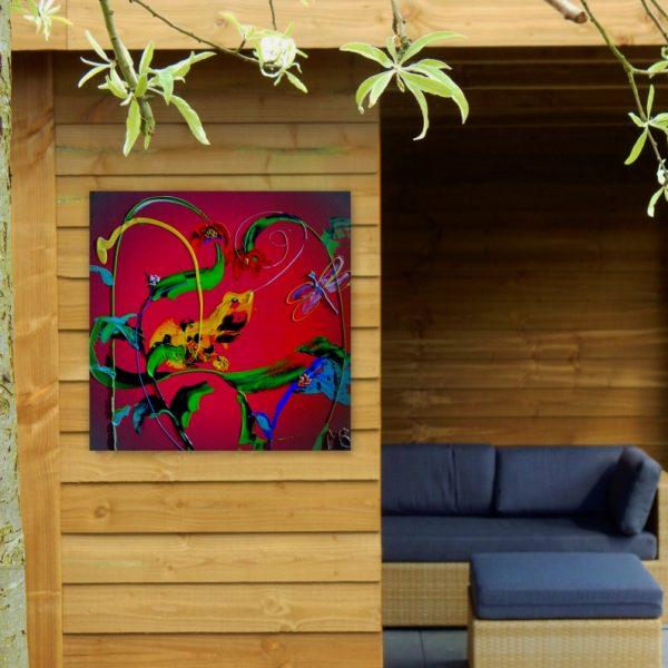 tuindecoratie,aluminium fotopaneel, tuinfoto, tuininrichting, tuinaccessoires,tuindecoratie, bloemenschilderij, bloemenprint, volumepaneel, weerbestendig fotoproduct, dibond, kunstafdruk, fotoproduct, fotopaneel