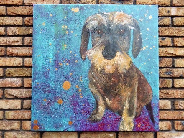 hond, huisdier, portretschilderij, figuratieve kunst