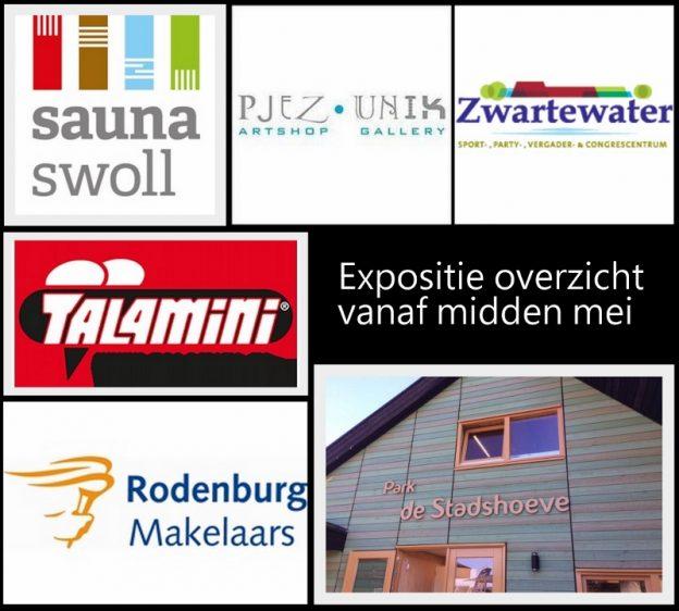 expositie, galerie, Stadshoeve Zwolle, Talamini Zwolle, Rodenburg Makelaars, Galerie Pjez Unik, Sauna Swoll, marieke brouwers, kleurrijke schilderijen, vrolijke kunst, schilderij laten maken