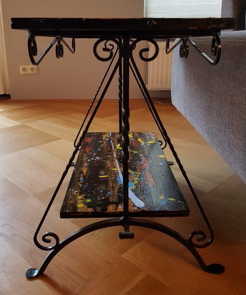kunst op meubels, handbeschilderde bijzettafel, moderne kunst