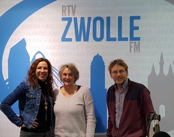 interview radio Zwolle Marieke Brouwers over kunst, schilder workshops en ondernemen