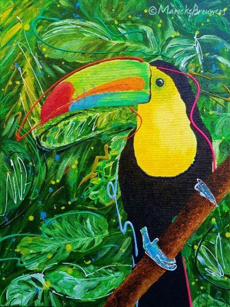schilderij kopen, schilderij in opdracht, schilderij, kunstwerk, dierenschilderij, vogelschilderij, groen schilderij, schilderij keuken, schilderij woonkamer, schilderij verhuizing, schilderij in het nieuwe huis, schilderij in opdracht