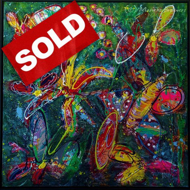 vrolijk schilderij, kleurrijke kunst, modern schilderij, schilderij in opdracht laten maken, abstracte kunst, abstract schilderij, schilderij voor in de woonkamer, kunst op kantoor