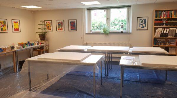 zakelijke workshop, advocatenkantoor, creatieve workshop, creatieve teambuilding, samen schilderij maken, samen schilderen, werkuitje, creatief uitje, schilderworkshop, zwolle