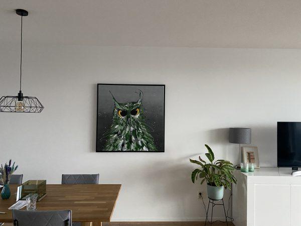 uilenschilderij, schilderij laten maken,